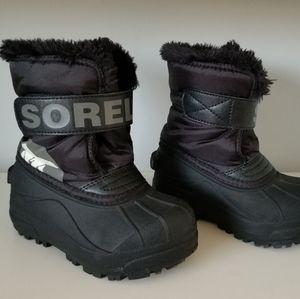 Toddler Boys Sz 9 Sorel Snow Boots Waterproof Blac